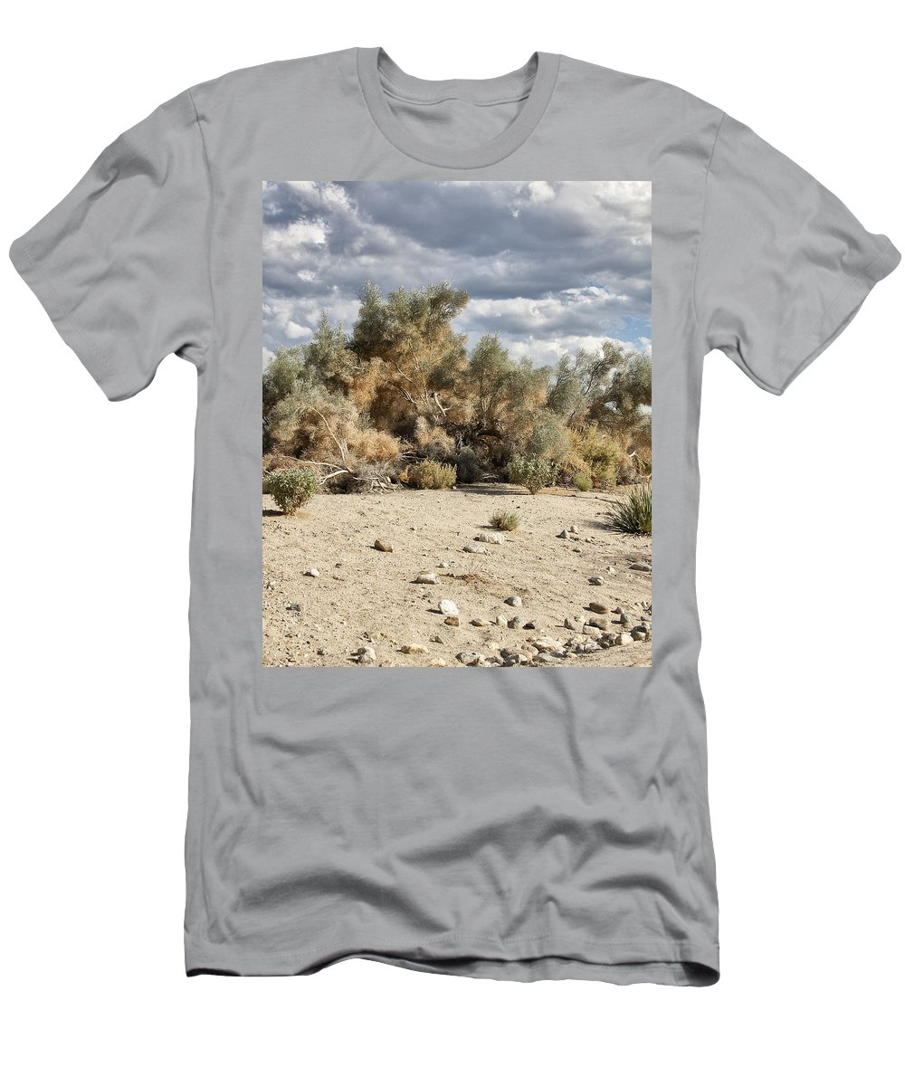 Desert Men's T-Shirt (Athletic Fit) featuring the photograph Desert Cloud Palm Springs by William Dey