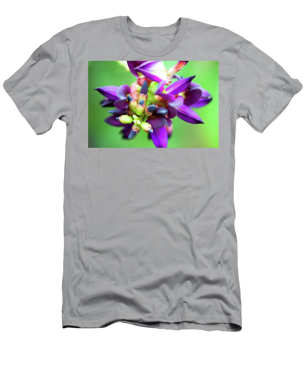Violet Men's T-Shirt (Athletic Fit) featuring the photograph Divine Purple by Pam Fong