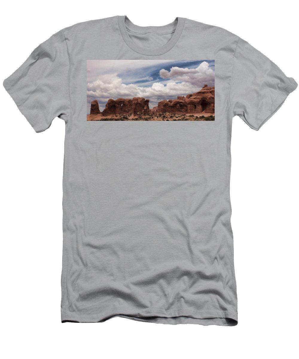 Desert Men's T-Shirt (Athletic Fit) featuring the photograph Doorways by Karen Ulvestad