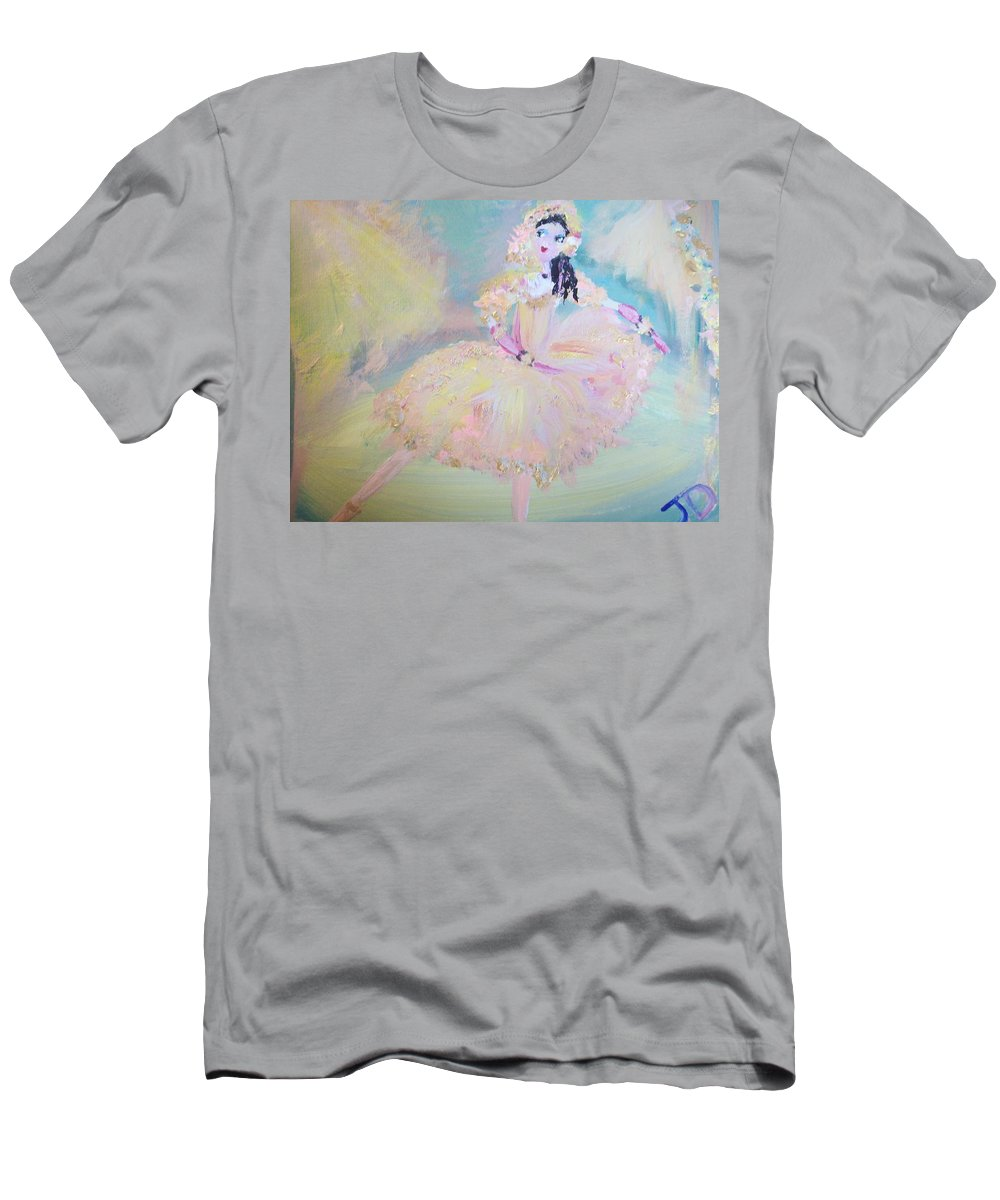Dance Men's T-Shirt (Athletic Fit) featuring the painting Dorothy Dancer by Judith Desrosiers