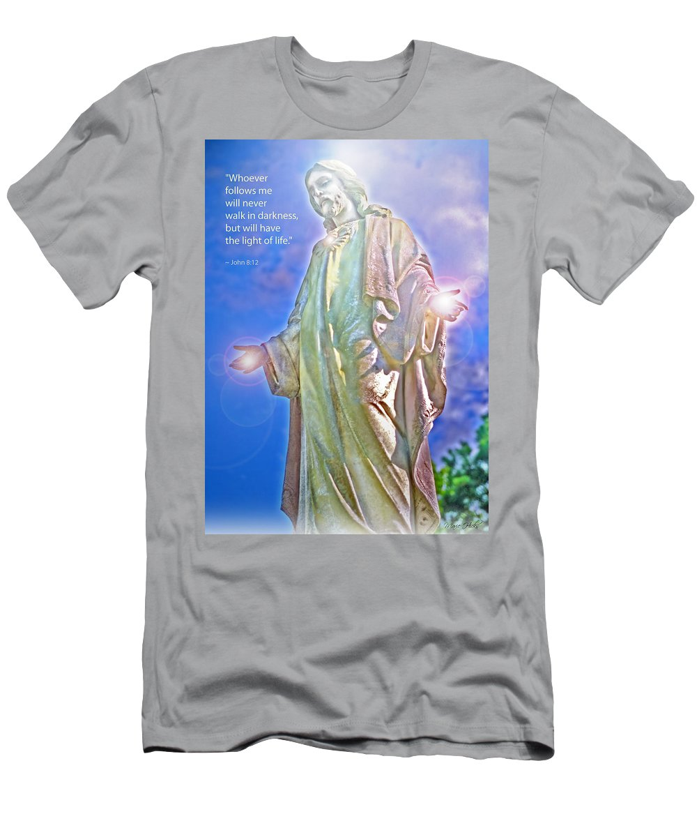 Jesus Men's T-Shirt (Athletic Fit) featuring the photograph Easter Miracle by Marie Hicks