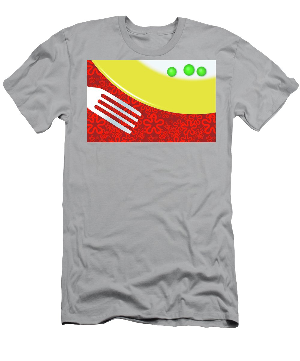 Minimalism Men's T-Shirt (Athletic Fit) featuring the digital art Eat Your Peas by Richard Rizzo