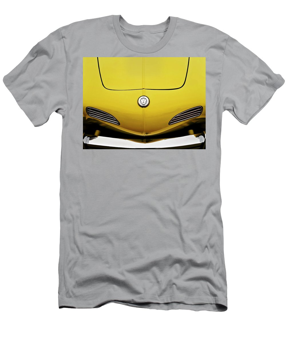 Volkswagen Men's T-Shirt (Athletic Fit) featuring the digital art Electric Karmann by Douglas Pittman