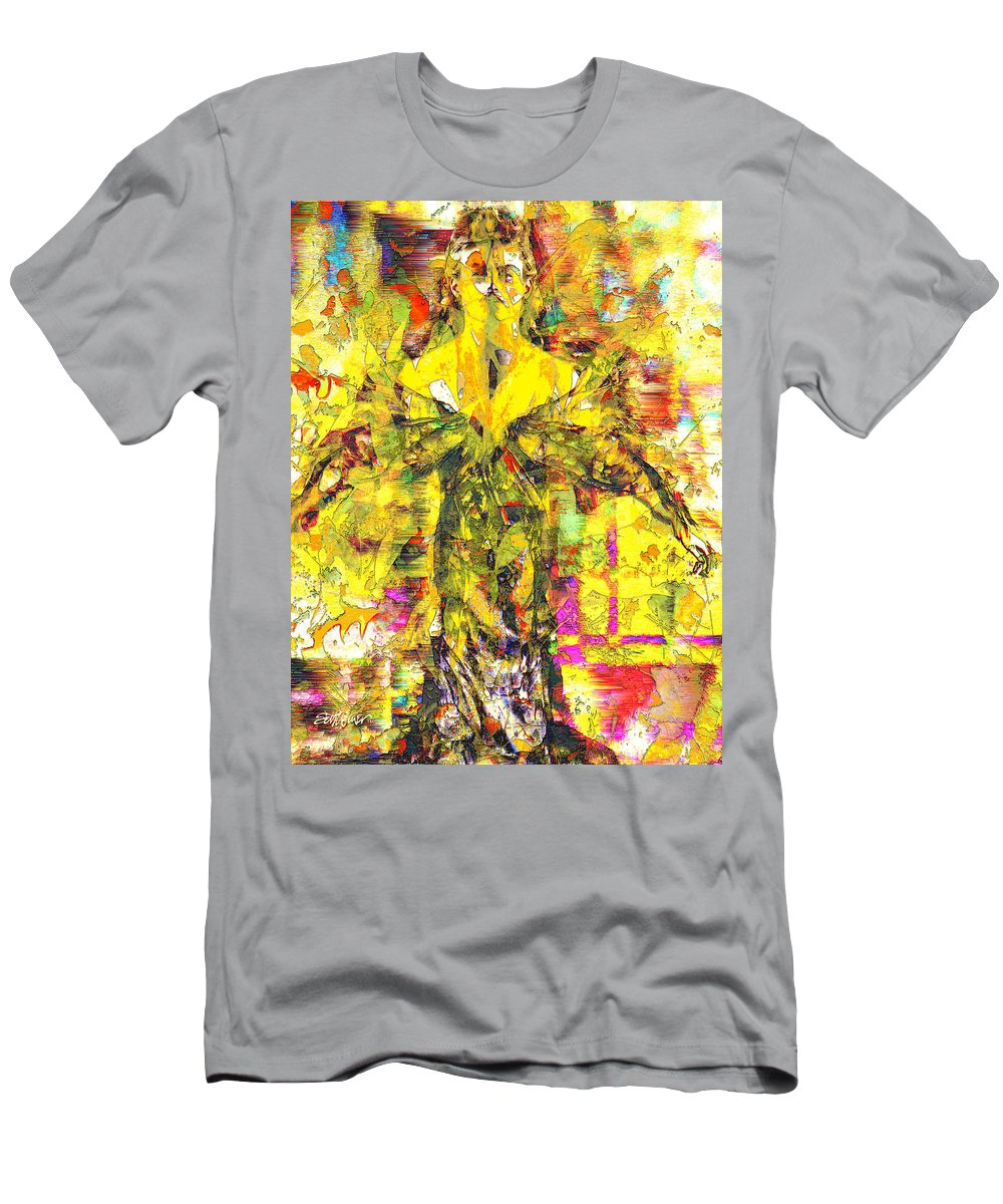 Embrace Of Fall T-Shirt featuring the digital art Embrace of Fall by Seth Weaver