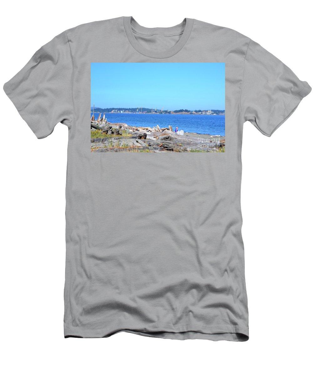 British Columbia Men's T-Shirt (Athletic Fit) featuring the photograph Esquimalt Lagoon by Traci Cottingham