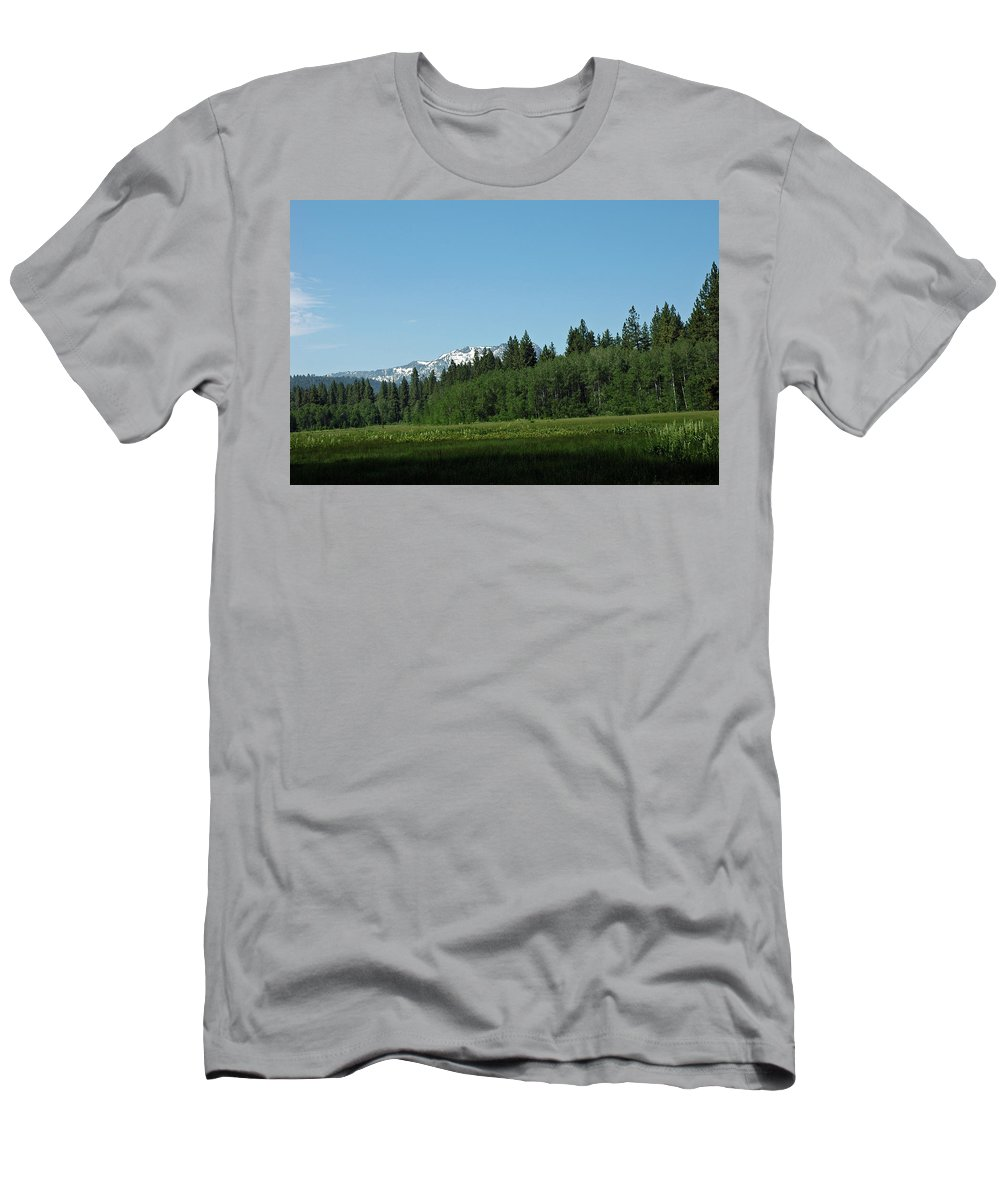 Usa Men's T-Shirt (Athletic Fit) featuring the photograph Fallen Leaf Lake by LeeAnn McLaneGoetz McLaneGoetzStudioLLCcom