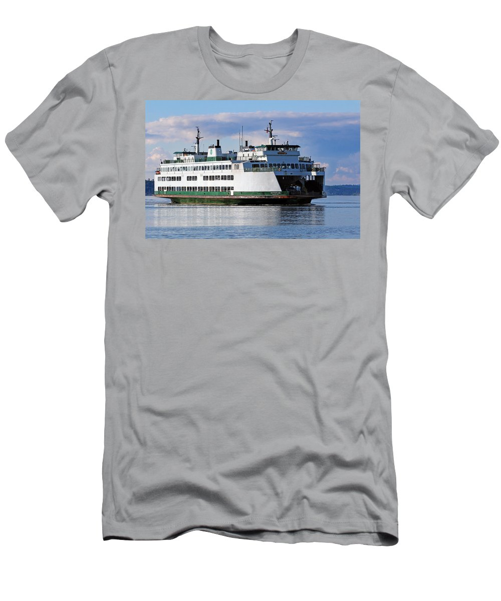 America Men's T-Shirt (Athletic Fit) featuring the photograph Ferry by Paul Fell
