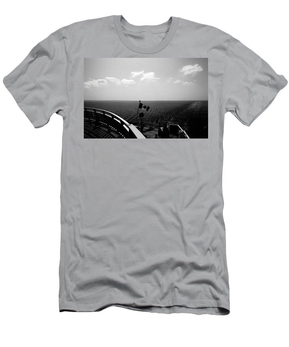 Black And White Men's T-Shirt (Athletic Fit) featuring the photograph Ferry Ride by Cale Best