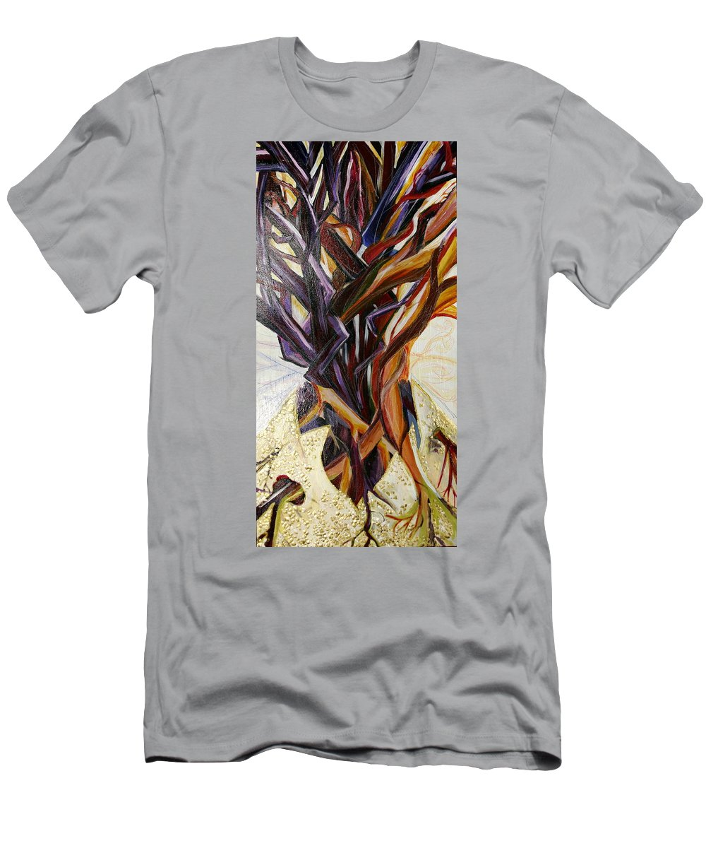 Apple T-Shirt featuring the painting Fifth World Three by Kate Fortin