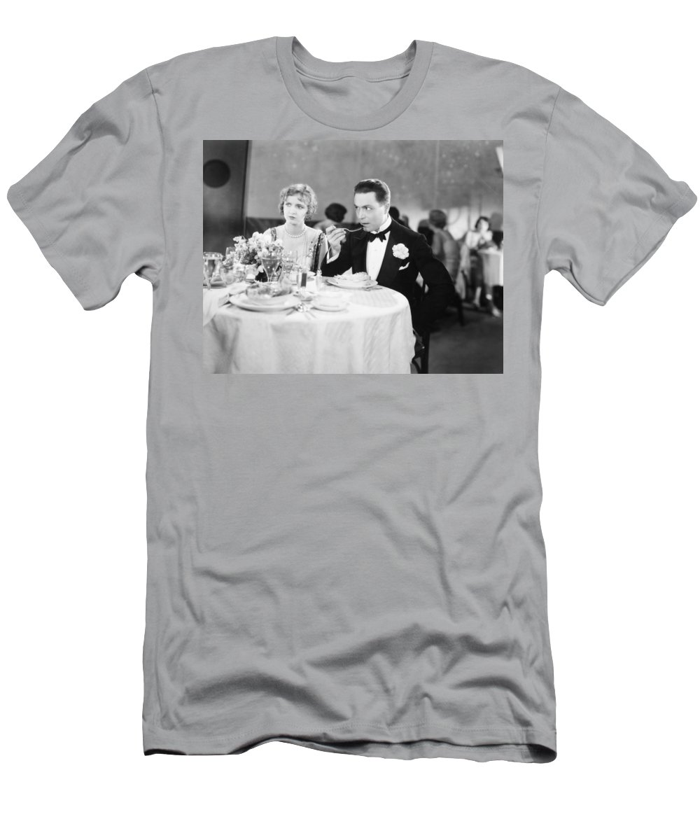 -eating & Drinking- Men's T-Shirt (Athletic Fit) featuring the photograph Film Still: Ford & Powers by Granger