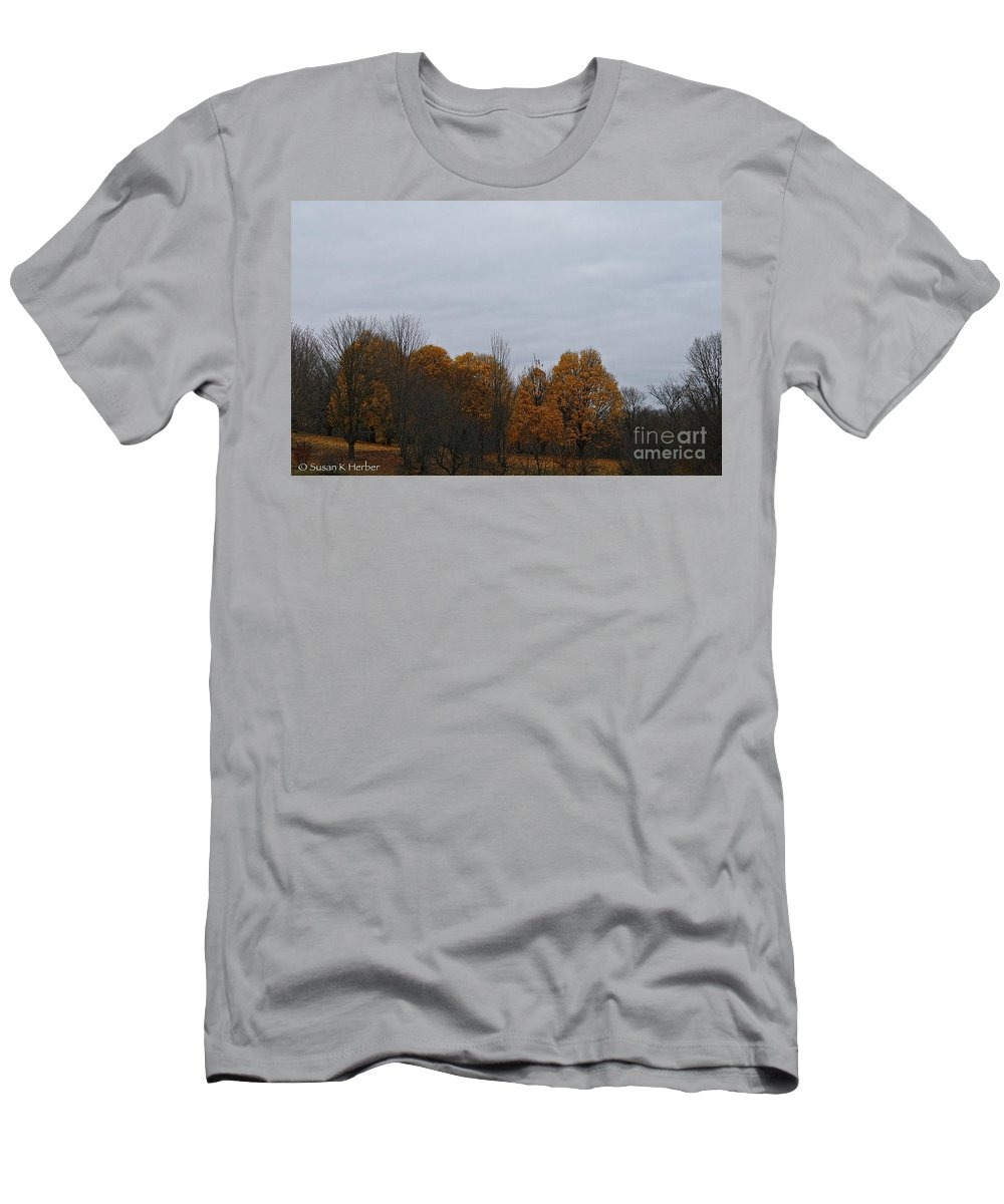 Outdoors Men's T-Shirt (Athletic Fit) featuring the photograph Final Color by Susan Herber