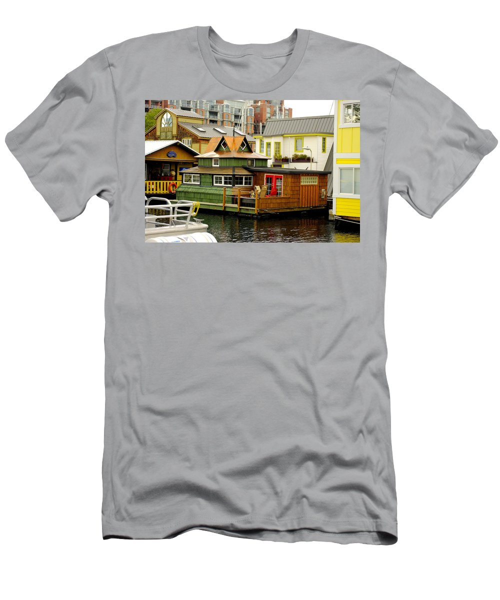 Fisherman's Wharf Men's T-Shirt (Athletic Fit) featuring the photograph Float Home Fishermans Wharf by John Greaves