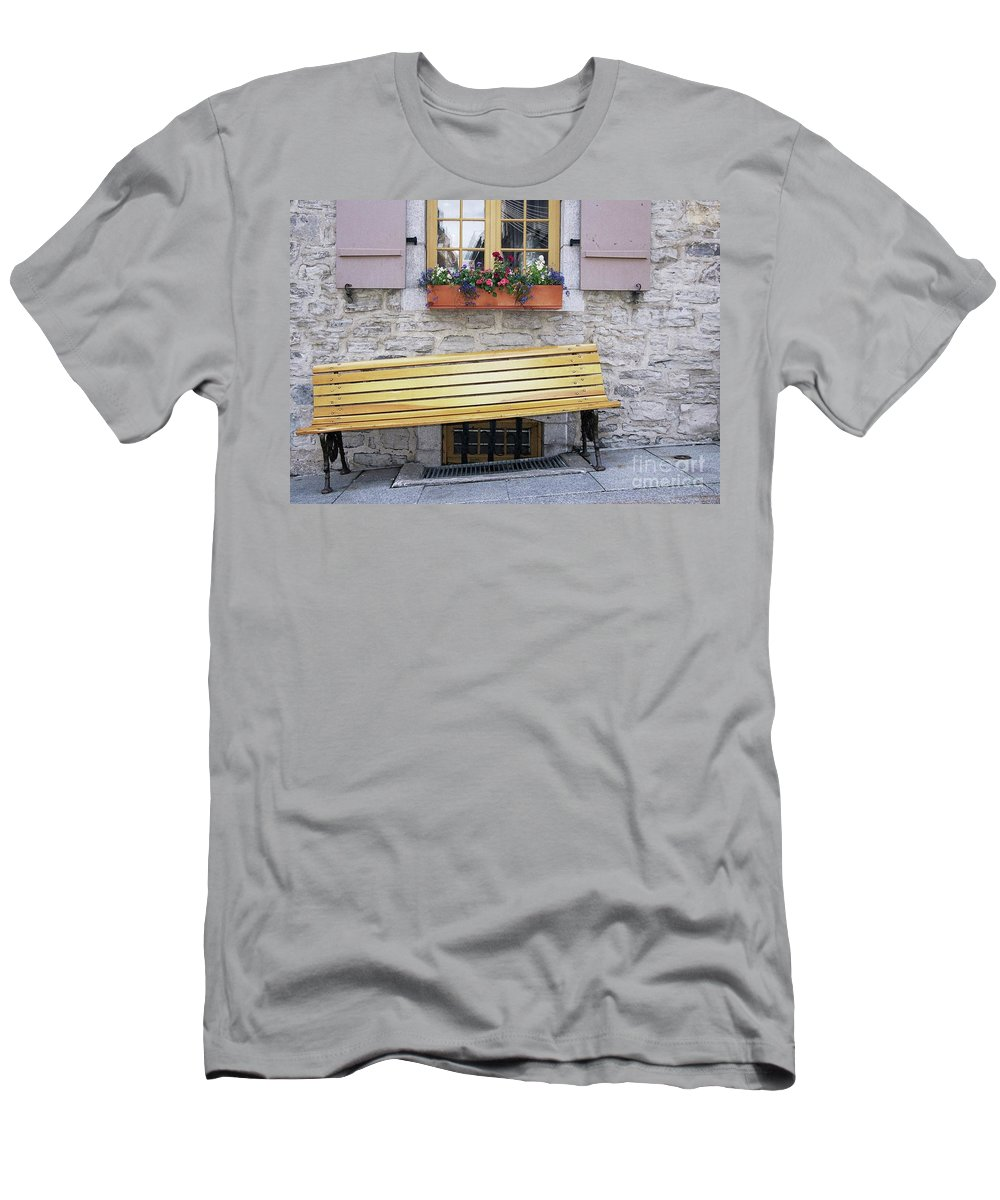 Flower Pots Men's T-Shirt (Athletic Fit) featuring the photograph Flower Pots ...... 19 by Allen Beatty