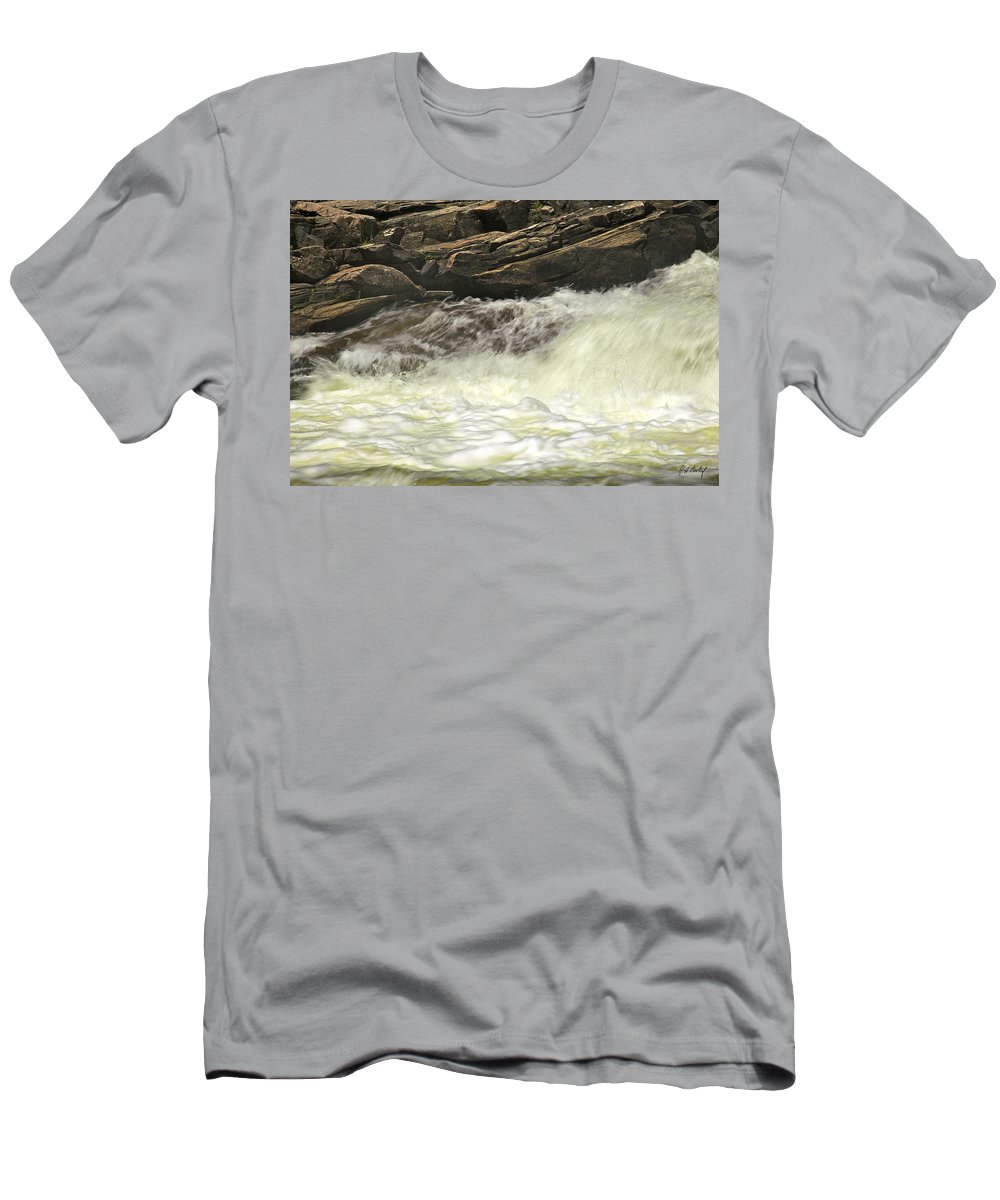 Canada Men's T-Shirt (Athletic Fit) featuring the photograph Foamy Cascade by Phill Doherty