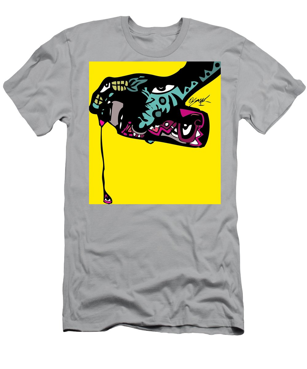 Spraypaint Men's T-Shirt (Athletic Fit) featuring the digital art Follow The Drip Full Color by Kamoni Khem