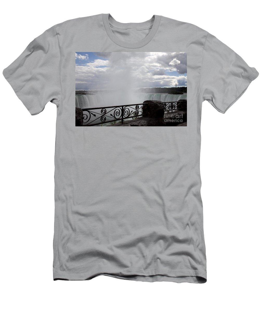 Niagara T-Shirt featuring the photograph Gate to Fall by Amanda Barcon