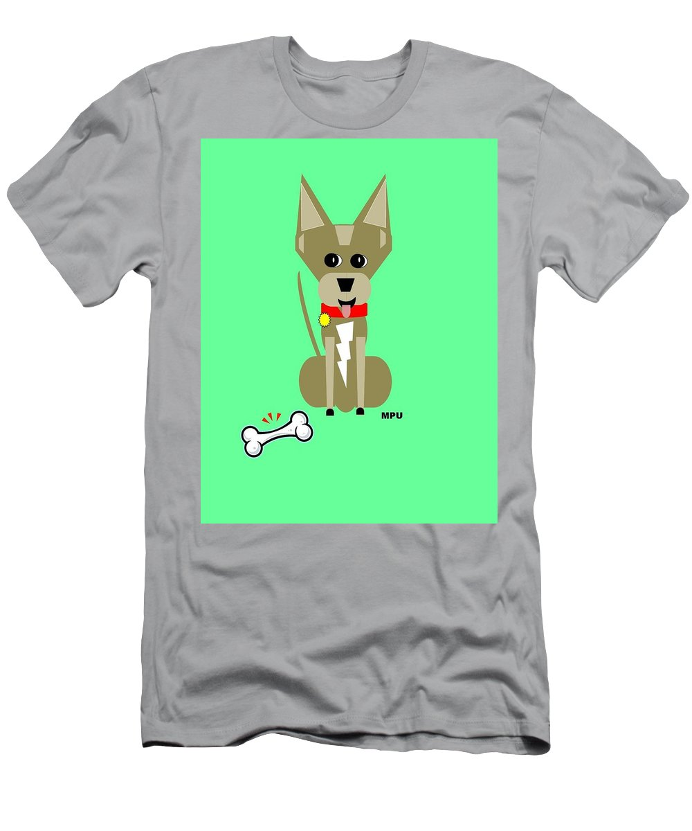 Chihuahua Men's T-Shirt (Athletic Fit) featuring the digital art Geo Chihuahua by Maria Urso