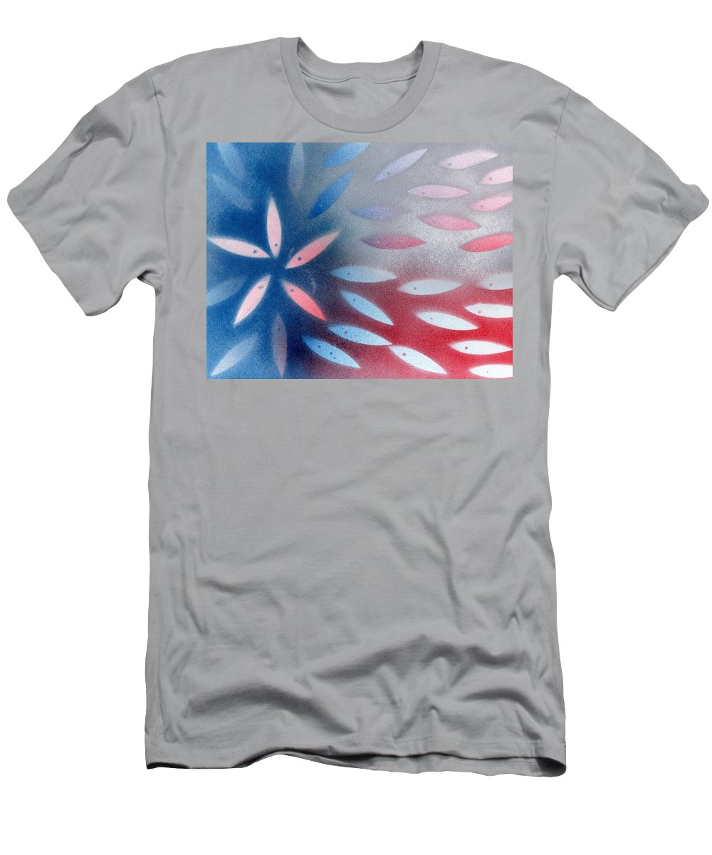 Texas Men's T-Shirt (Athletic Fit) featuring the painting God Bless Texas by Elizabeth Harshman
