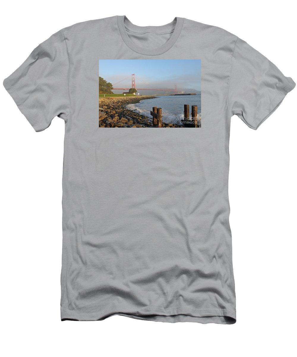 Golden Gate Men's T-Shirt (Athletic Fit) featuring the photograph Golden Gate Bridge by Jack Schultz
