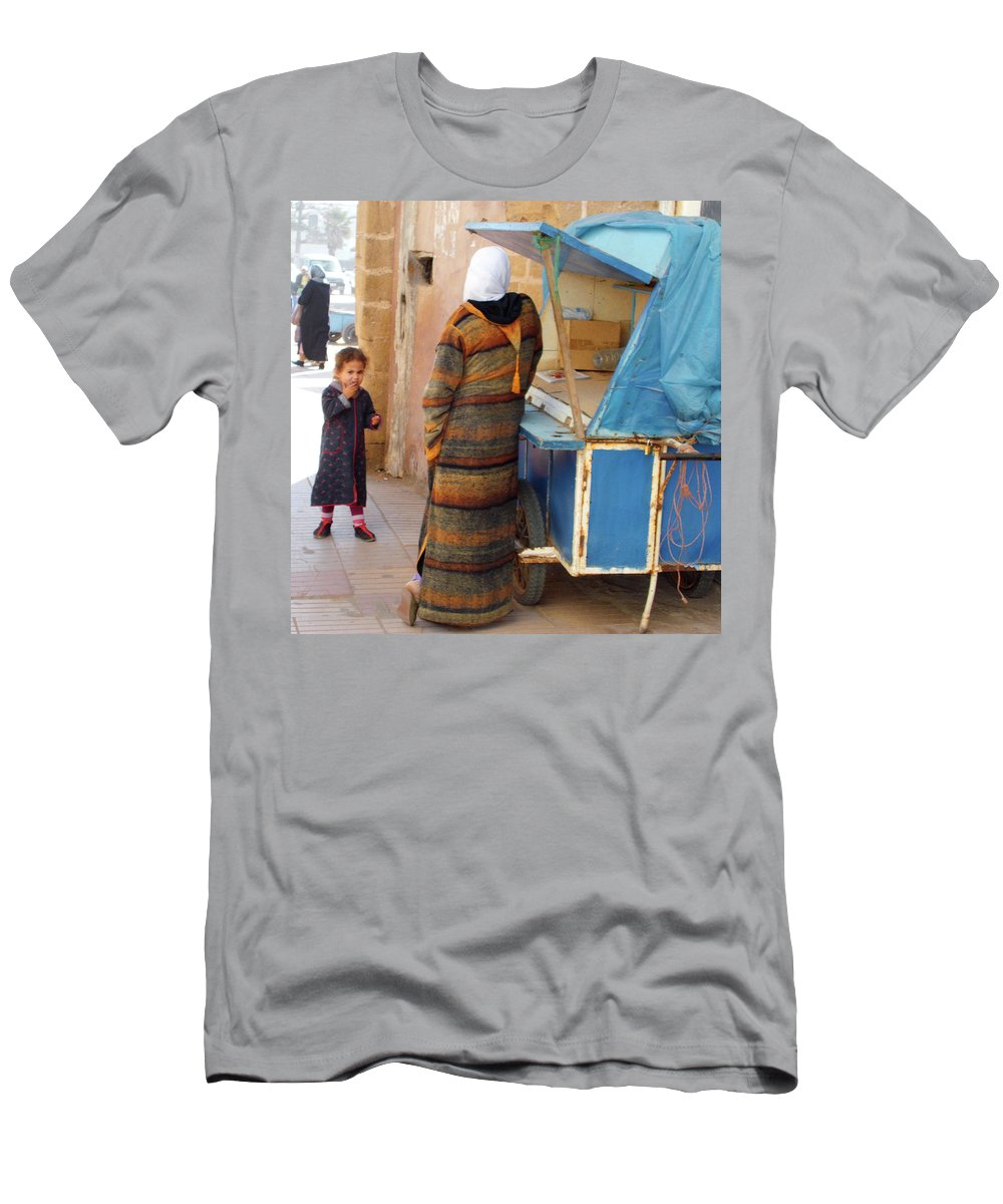 Morocco Men's T-Shirt (Athletic Fit) featuring the photograph Got Any Sweeties by Miki De Goodaboom
