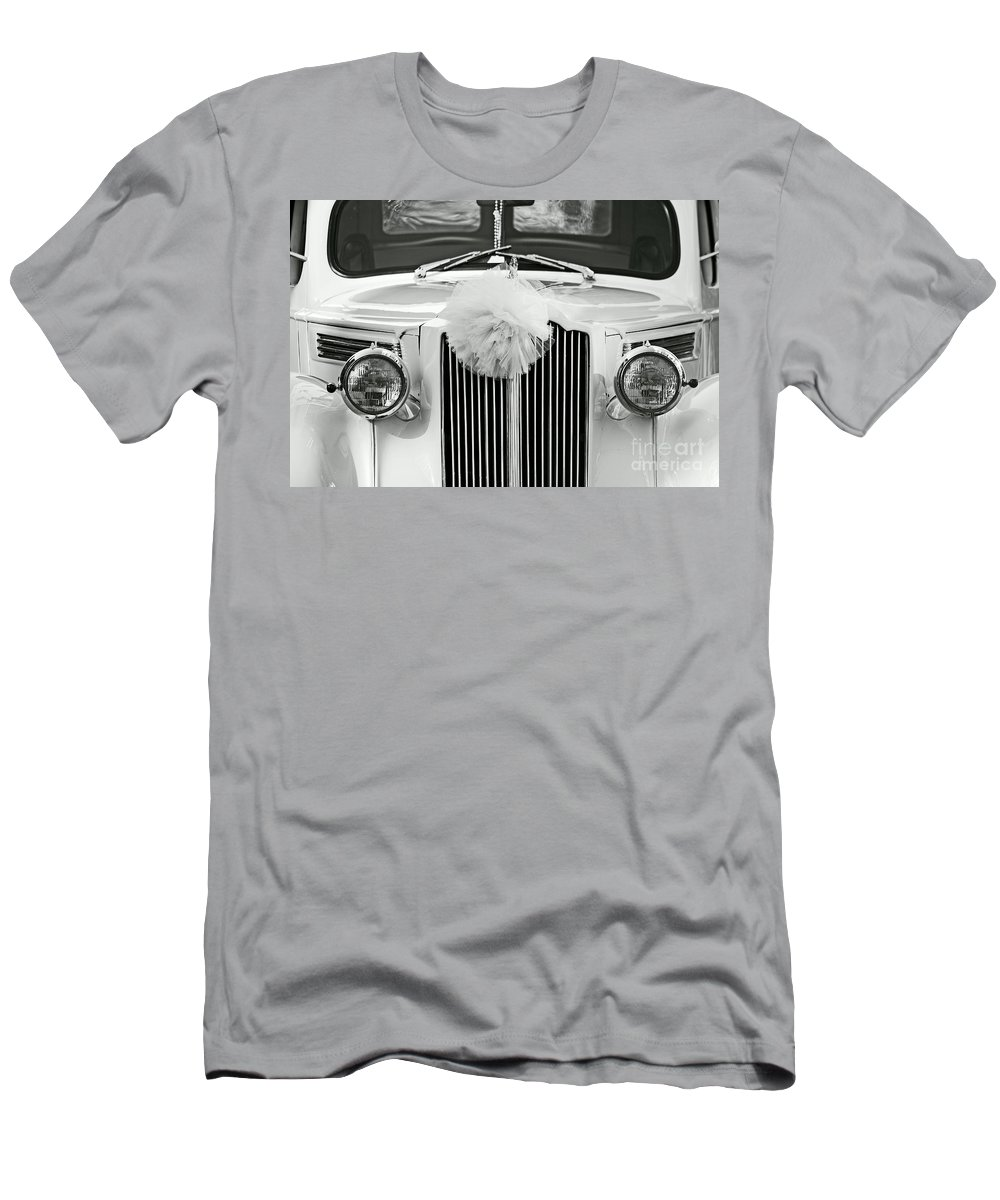 Car Men's T-Shirt (Athletic Fit) featuring the photograph Got Married Bw by Aimelle