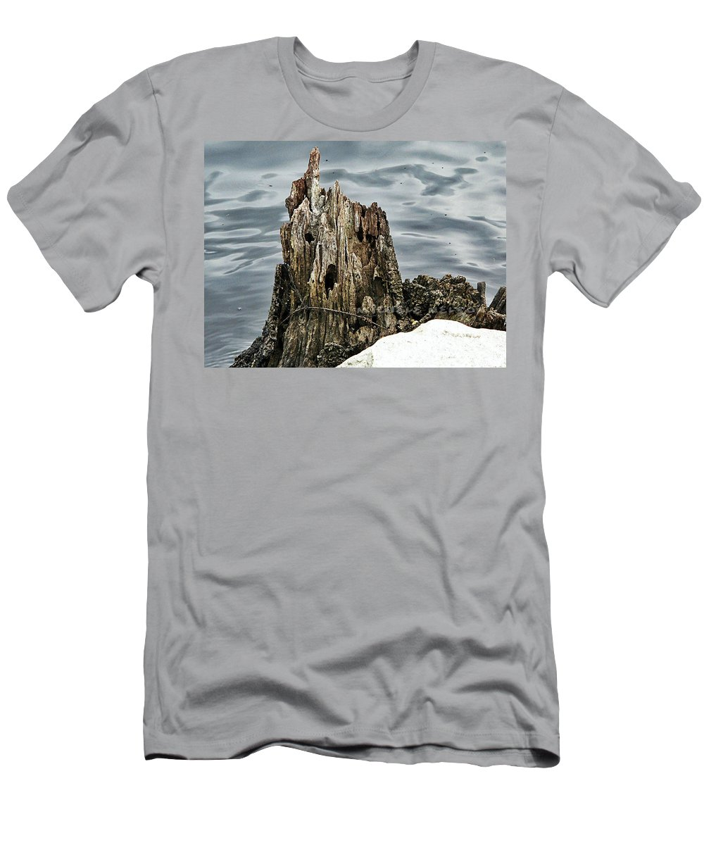 Men's T-Shirt (Athletic Fit) featuring the photograph Grumpy Stump by Michele Nelson