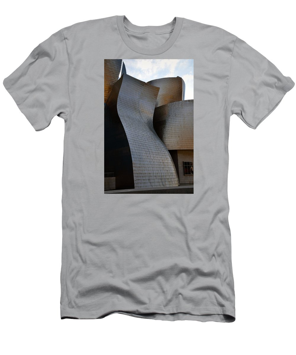 Guggenheim Men's T-Shirt (Athletic Fit) featuring the photograph Guggenheim Museum Bilbao - 1 by RicardMN Photography
