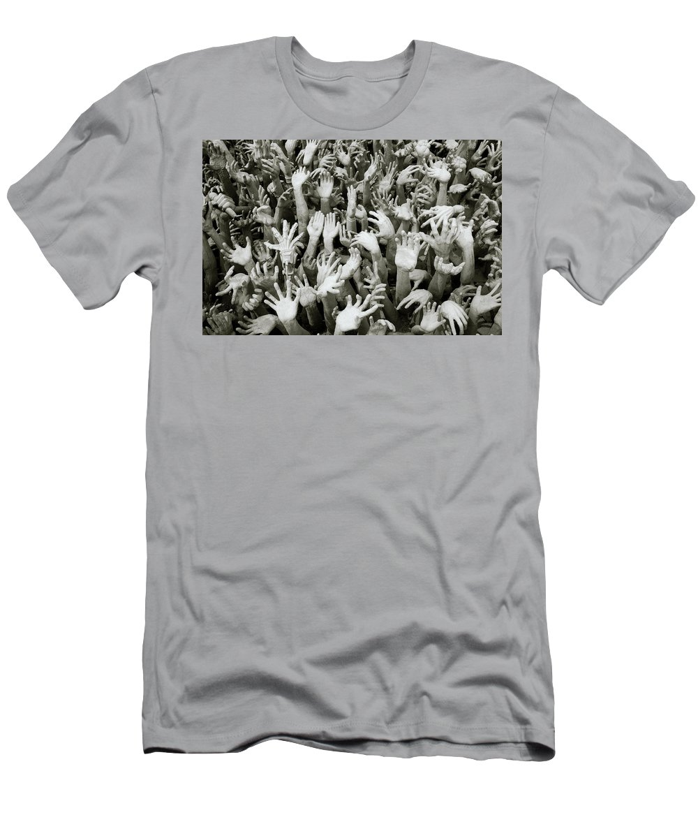 Black And White Men's T-Shirt (Athletic Fit) featuring the photograph Hell by Shaun Higson