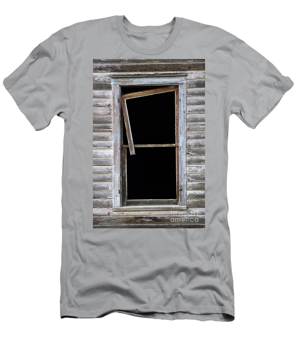 Window Men's T-Shirt (Athletic Fit) featuring the photograph Hanging Loose by Bob Christopher