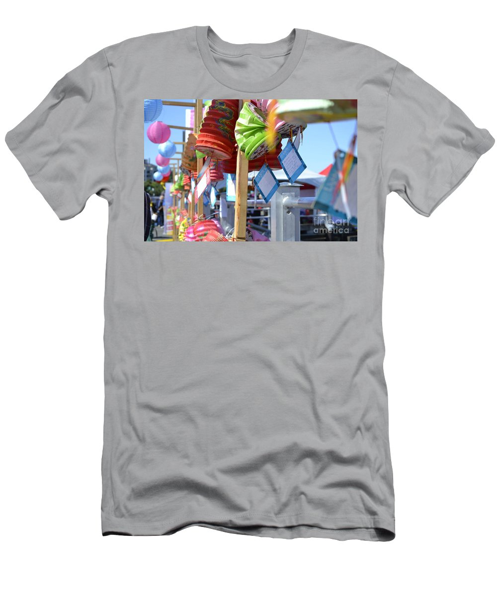 Dragon Boat Races Men's T-Shirt (Athletic Fit) featuring the photograph Hanging Out by Traci Cottingham