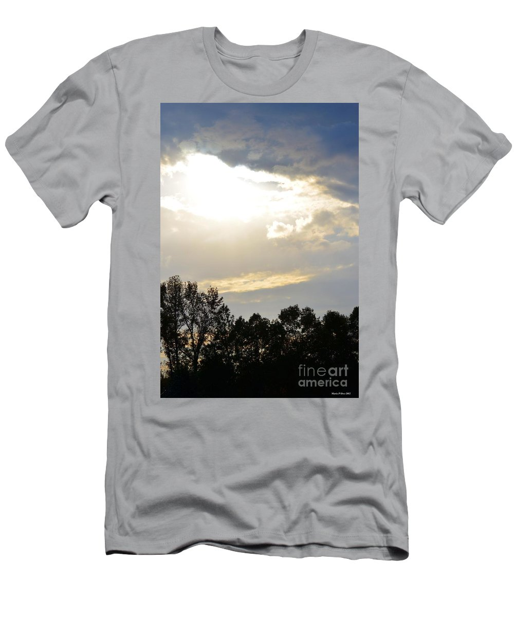Heaven's Light 2 Men's T-Shirt (Athletic Fit) featuring the photograph Heaven's Light 2 by Maria Urso
