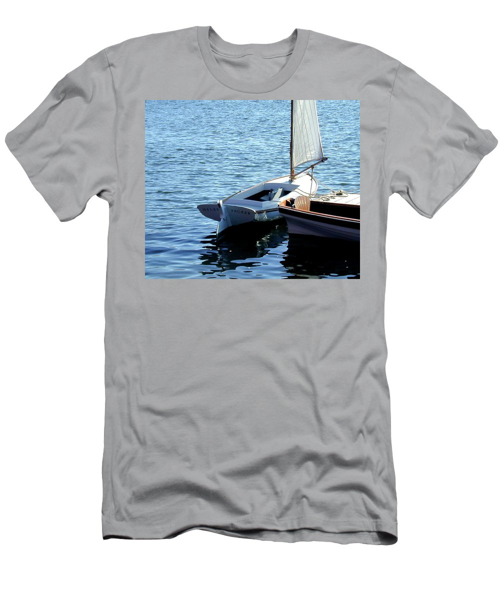 Mystic Seaport Men's T-Shirt (Athletic Fit) featuring the photograph Helen Packer by Gary Adkins