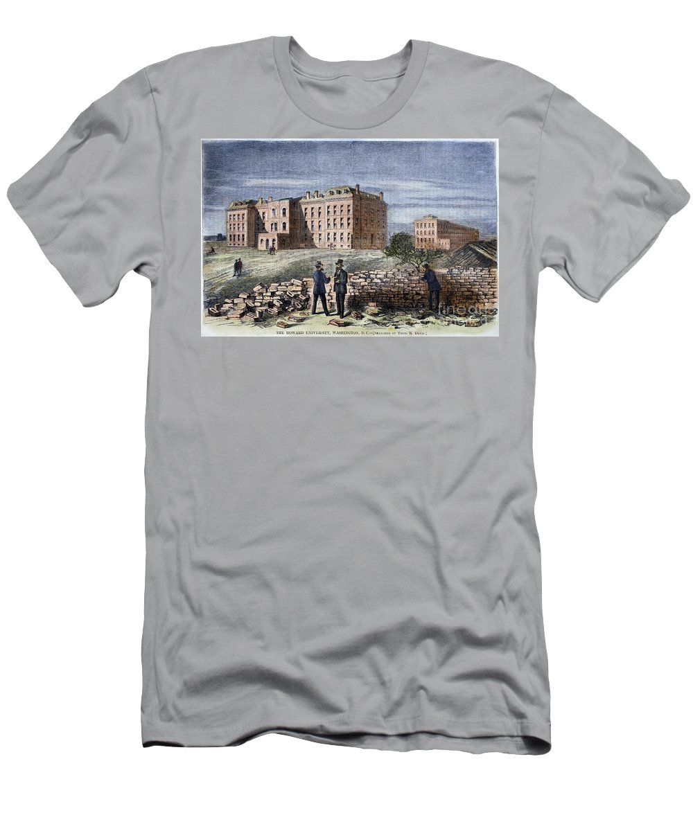 1869 Men's T-Shirt (Athletic Fit) featuring the photograph Howard University, 1869 by Granger