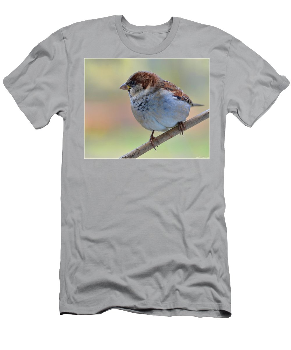 Nature Men's T-Shirt (Athletic Fit) featuring the photograph Humble Housesparrow by Debbie Portwood