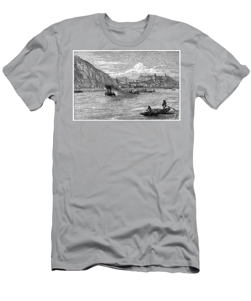 1886 Men's T-Shirt (Athletic Fit) featuring the photograph Hungary: Budapest, 1886 by Granger