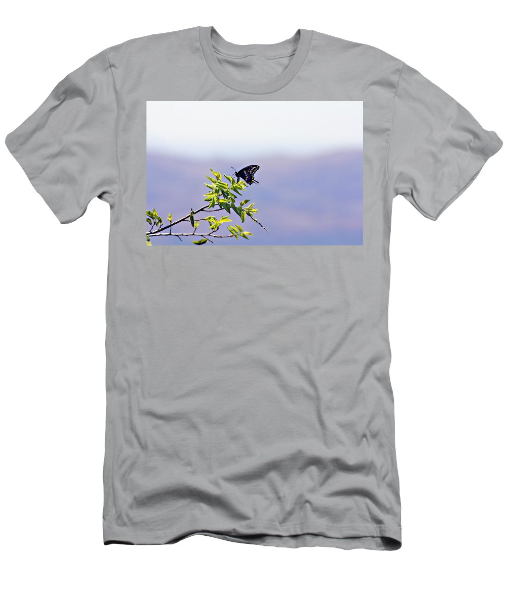Butterfly Men's T-Shirt (Athletic Fit) featuring the photograph I Fly High by Douglas Barnard