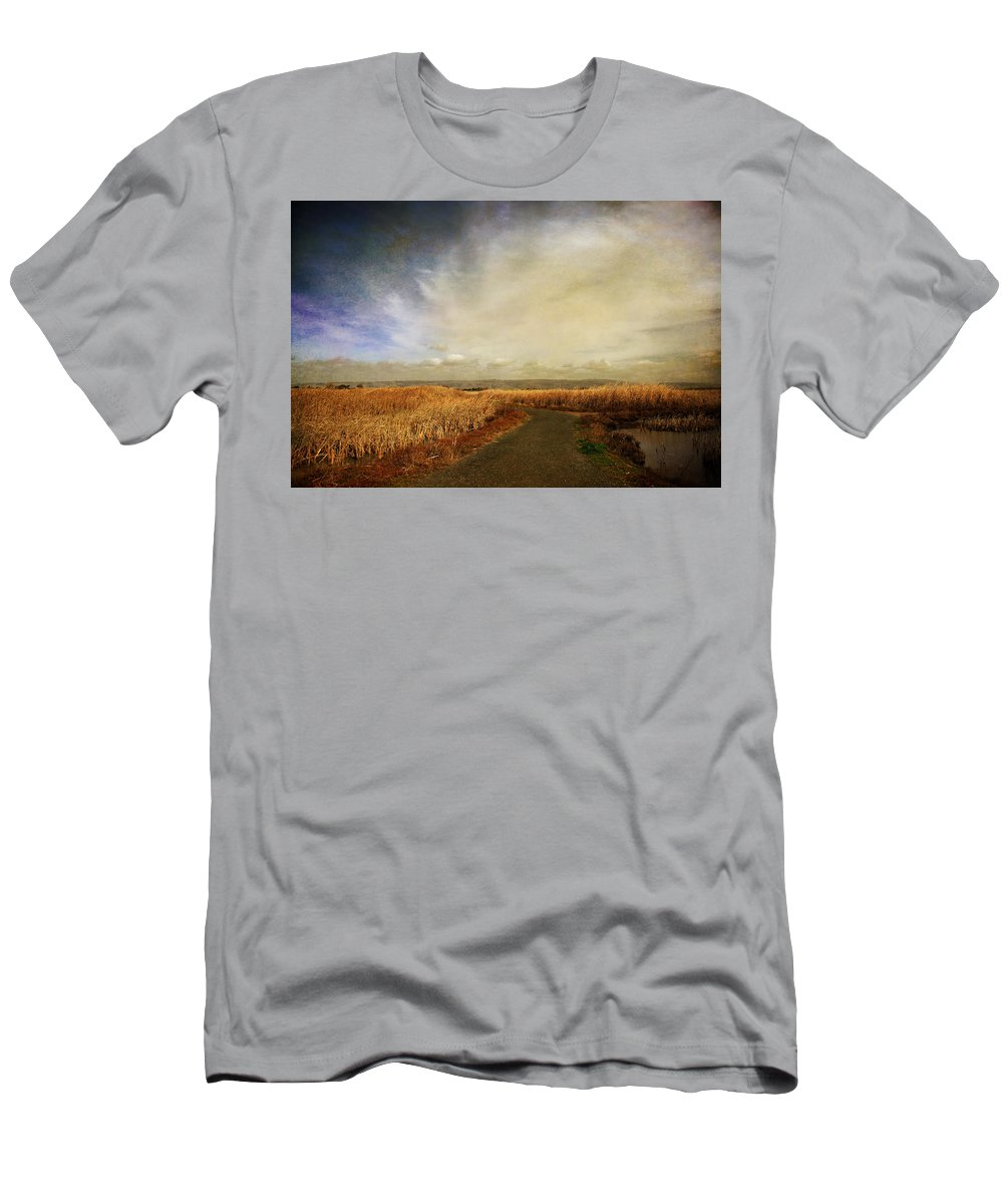 Landscape Men's T-Shirt (Athletic Fit) featuring the photograph If I Could See Into The Future by Laurie Search