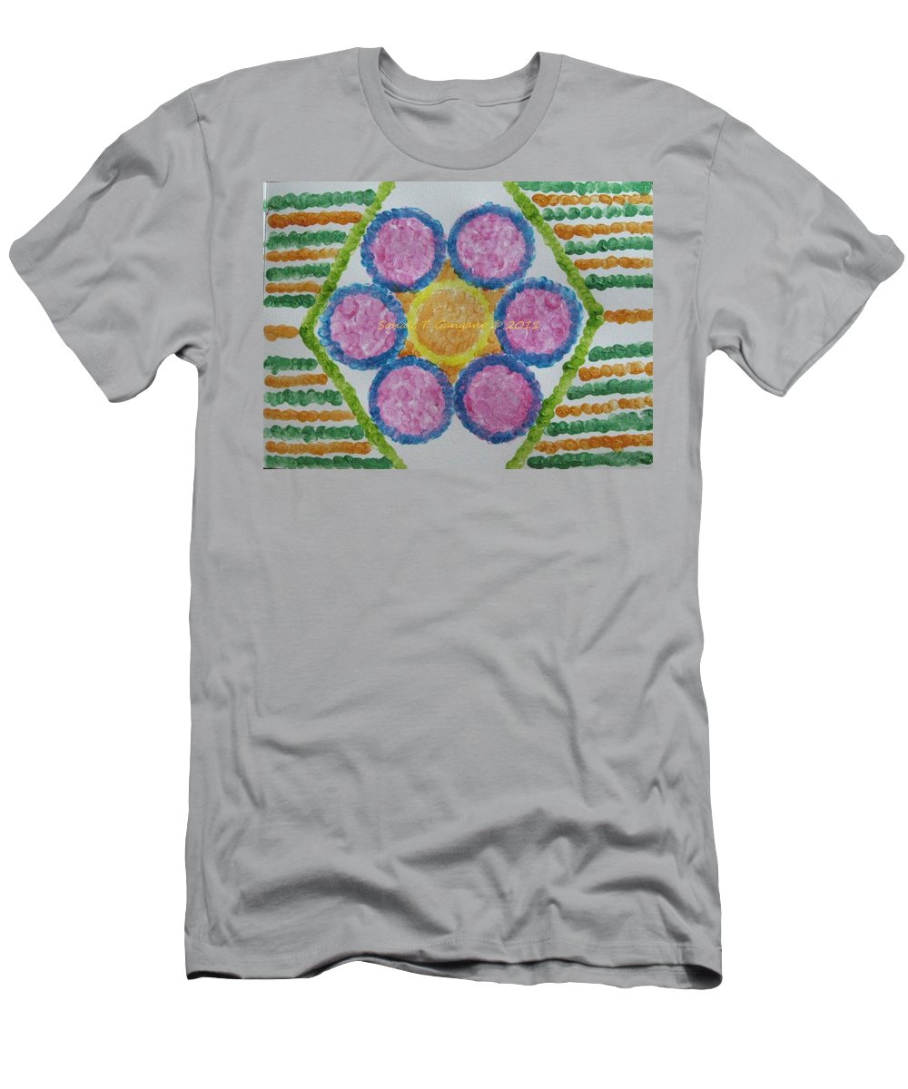 Circle Sequence Men's T-Shirt (Athletic Fit) featuring the painting Imprint Of Mind by Sonali Gangane