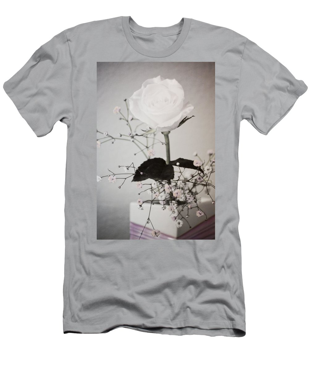Florals Men's T-Shirt (Athletic Fit) featuring the photograph In Her Time by Linda Dunn