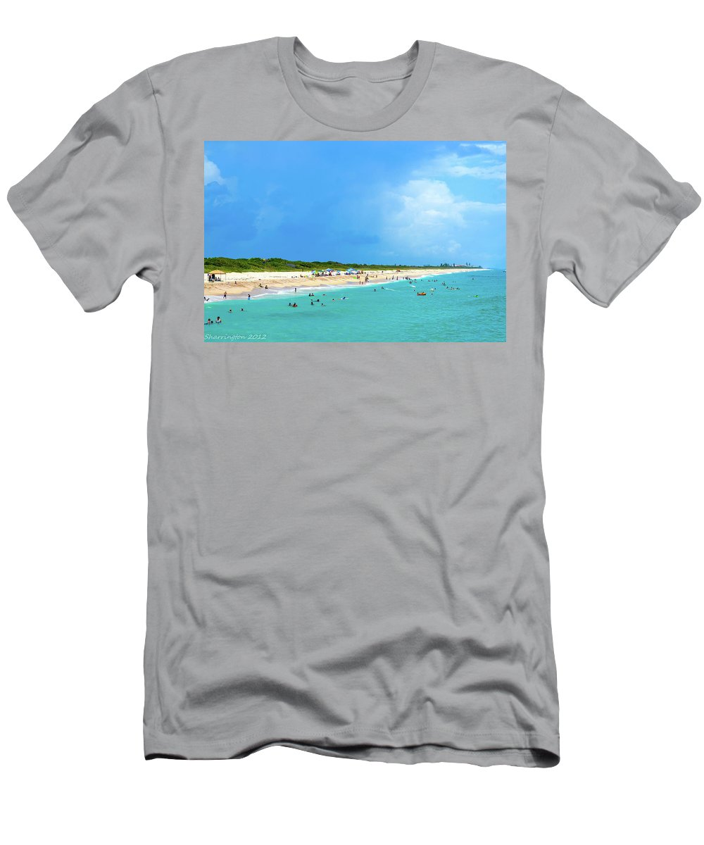 Beach Men's T-Shirt (Athletic Fit) featuring the photograph Incoming Storm by Shannon Harrington