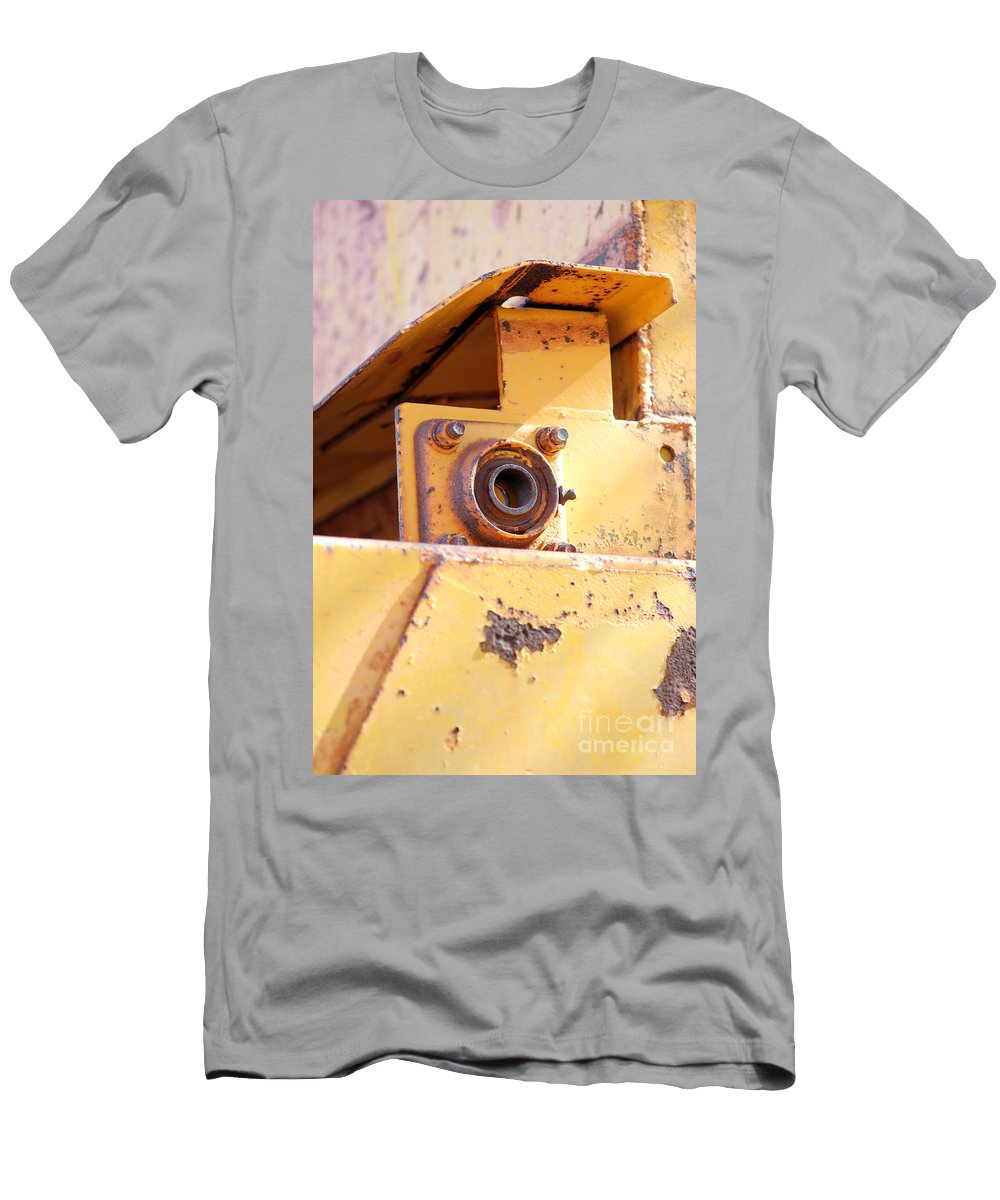 Ragged Men's T-Shirt (Athletic Fit) featuring the photograph Industrial Yellow by Alycia Christine