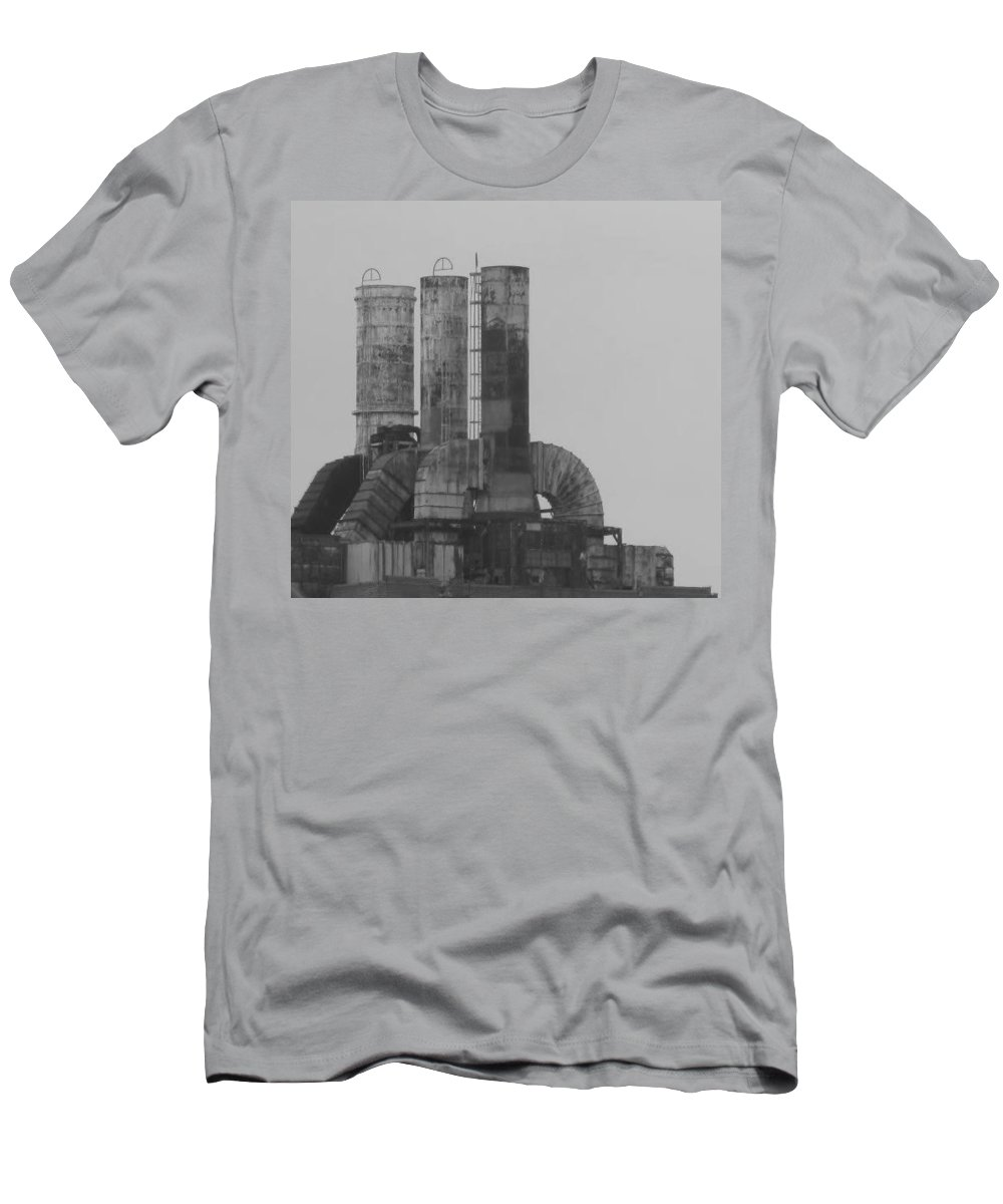 Smoke Stacks Men's T-Shirt (Athletic Fit) featuring the photograph Industry by Michele Nelson