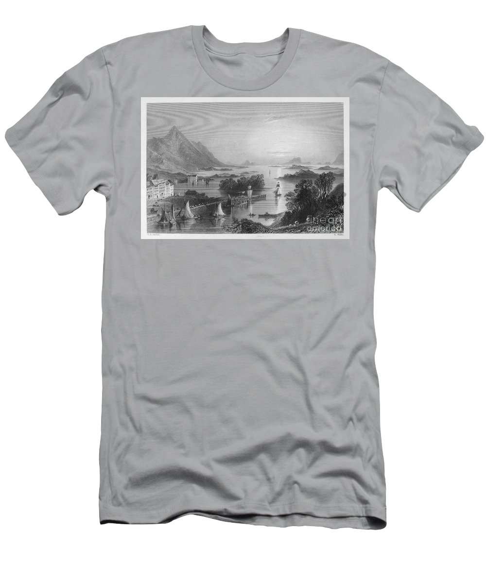 1840 Men's T-Shirt (Athletic Fit) featuring the photograph Ireland: Clew Bay, C1840 by Granger