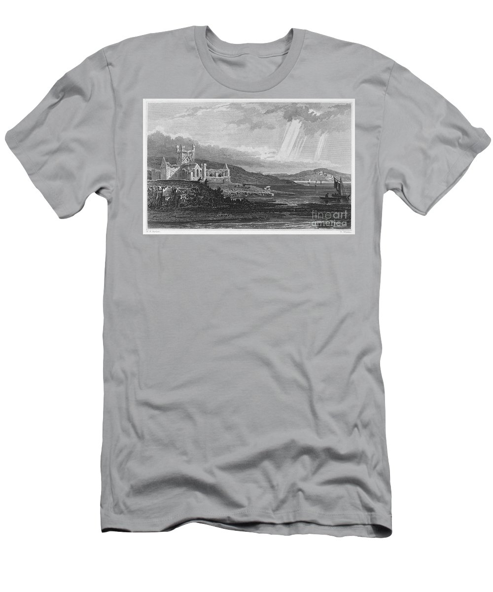 13th Century Men's T-Shirt (Athletic Fit) featuring the photograph Ireland: Dunbrody Abbey by Granger