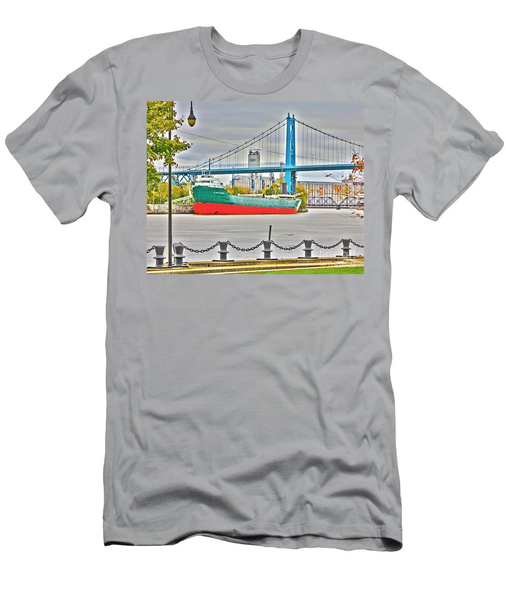 Men's T-Shirt (Athletic Fit) featuring the photograph James M Schoonmaker And The Hi-level Bridge by Jack Schultz