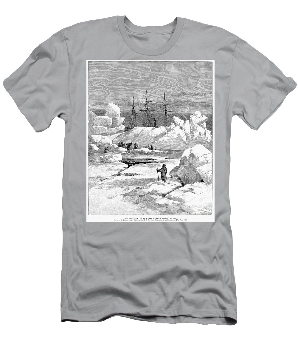 1880 Men's T-Shirt (Athletic Fit) featuring the photograph Jeannette Expedition by Granger