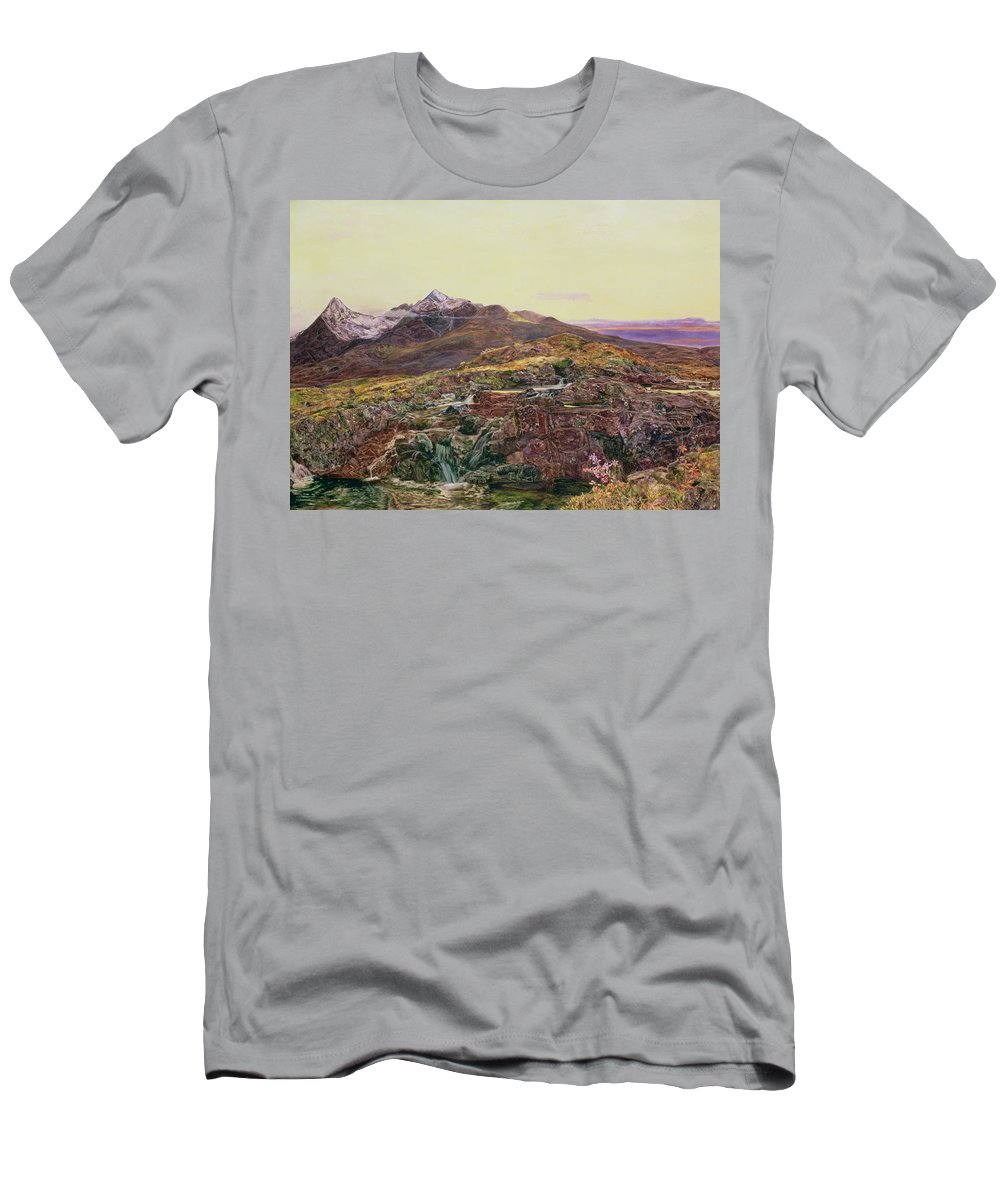 Cuillin Ridge Men's T-Shirt (Athletic Fit) featuring the painting John William Inchbold by Skye from Sligechan