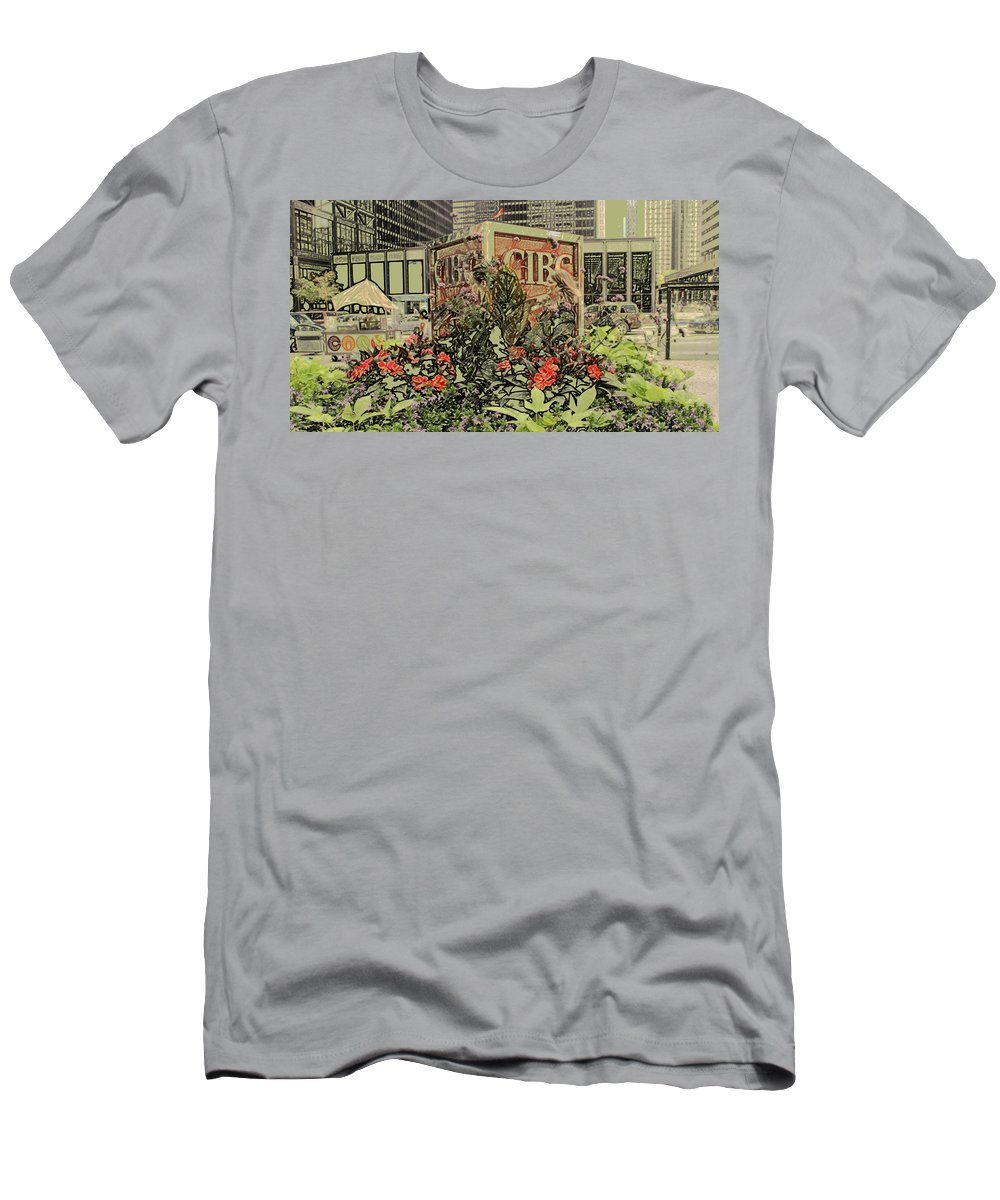 King Street Men's T-Shirt (Athletic Fit) featuring the photograph King And Bay Streets by Ian MacDonald