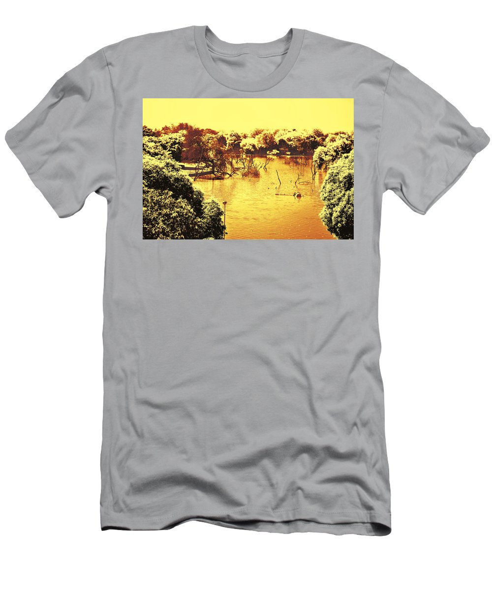 Lake Men's T-Shirt (Athletic Fit) featuring the photograph Lake In India by Sumit Mehndiratta