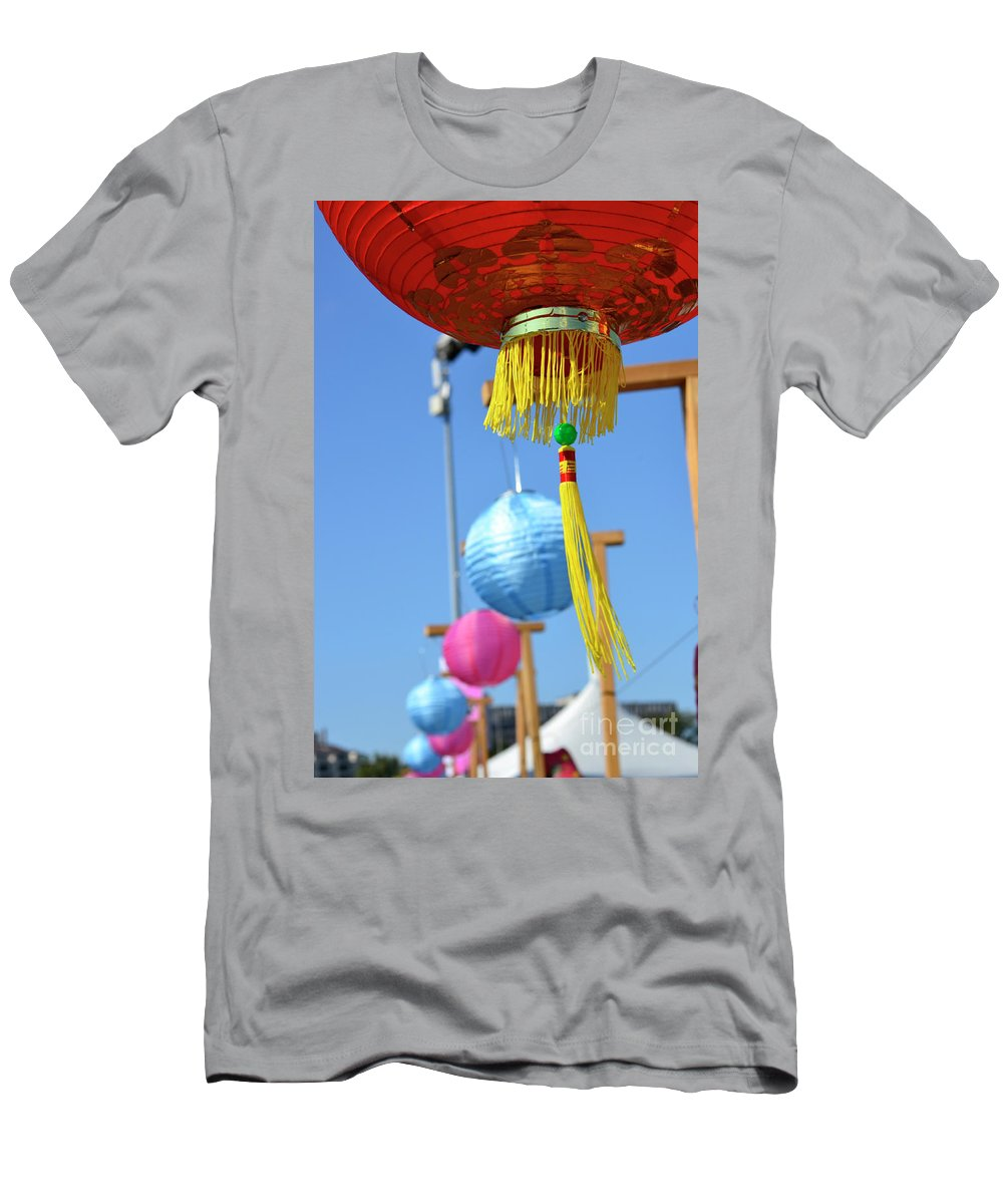 British Columbia Men's T-Shirt (Athletic Fit) featuring the photograph Lanterns by Traci Cottingham